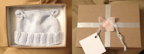 One last-minute baby hat, still made with love.