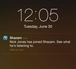 What have I tagged in Shazam to deserve this notification?